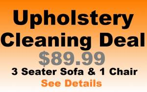 Upholstery Cleaning Deal - $89.99 - 3 Seater Sofa & 1 Chair