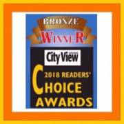 Best of Airdrie Bronze Award with City View