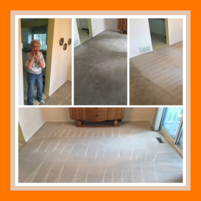 Lady Amazed by our Professional Carpet Cleaning