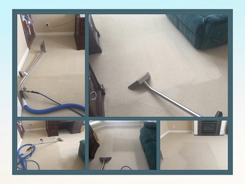 Cream Carpets Before After being Professionally Steam Cleaned