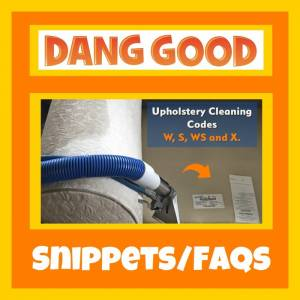 Making sense of Upholstery Cleaning Codes