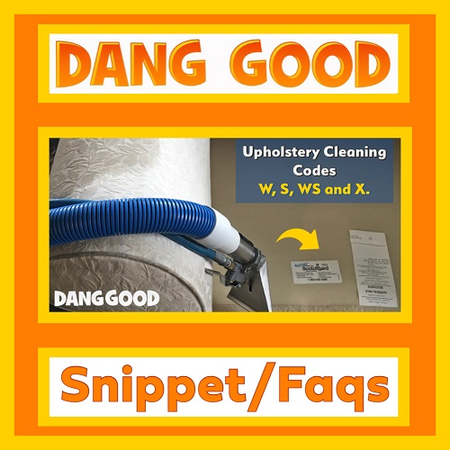 Five Upholstery Cleaning Codes Interpreted